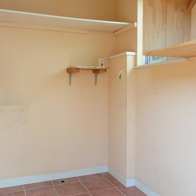 キッチン奥にパントリー!食材から、洗濯機から、ままのサポート空間。