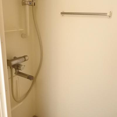 シャワーもついておりますよ