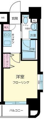 グリフィン横浜・桜木町六番館 の間取り