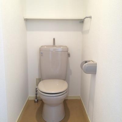 トイレはいたってシンプル