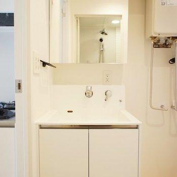 洗面台もいい感じ!※写真は301号室