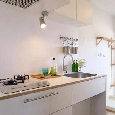 キッチンはゆったり2口ガス!※写真はイメージ