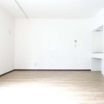 こちら側もシンプルな白で。レイアウト次第でどんな空間にもできそう。