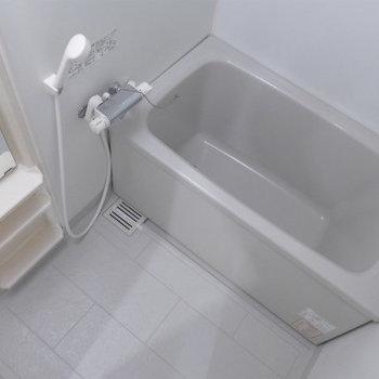 お風呂も問題ない広さです!※写真は4階の反転間取り別部屋のものです