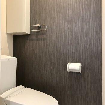 温水洗浄便座付きのトイレ。