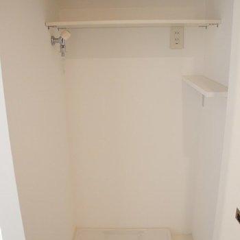 洗濯機のスペースはこれくらい。