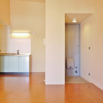 玄関からすぐにお部屋が見えにくい造り。 ※写真は304号
