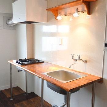 何度見てもこのキッチンは可愛い◎