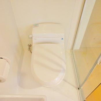 トイレはタンクレスで ※写真は前回募集時のものです