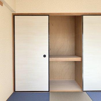【和室】収納は押入れタイプです。※写真は4階の同間取り別部屋のものです
