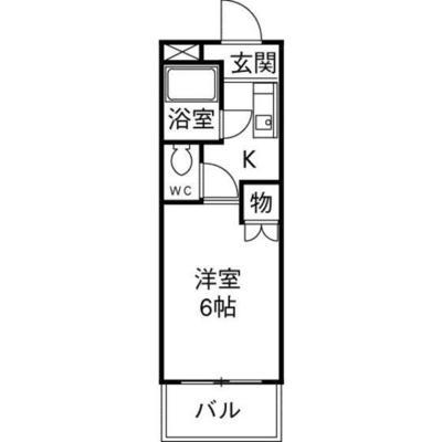 SHINアパートメントハウス扇町 の間取り