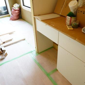 キッチンも新しく◎※写真は工事中です