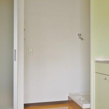 洗濯機と冷蔵庫置場。※写真は前回募集時のもの