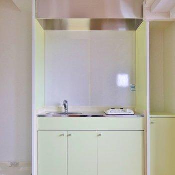 グリーンできめたキッチンスペース。※写真は前回募集時のもの