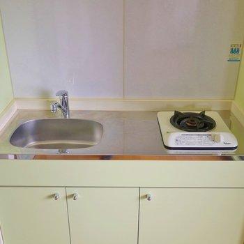 コンパクトですが、調理スペースは確保。※写真は前回募集時のもの