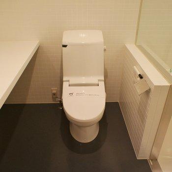 同スペースにトイレ