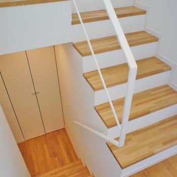 階段があるんです!