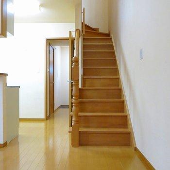さて、お二階へ。