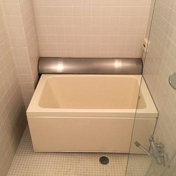 トイレの反対側にはバスタブ