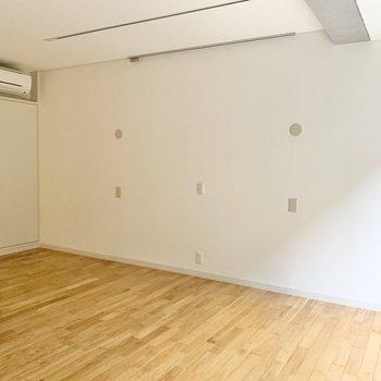 こちらの壁際にピクチャーレールもありますよ。