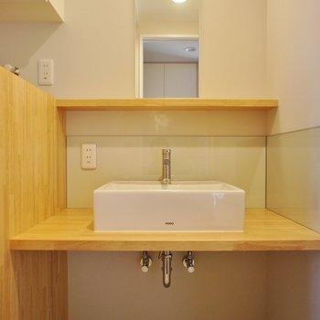 洗面台も大きくてデザインもグッド!!