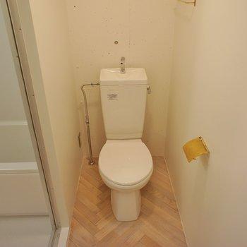 トイレは個室じゃないけど