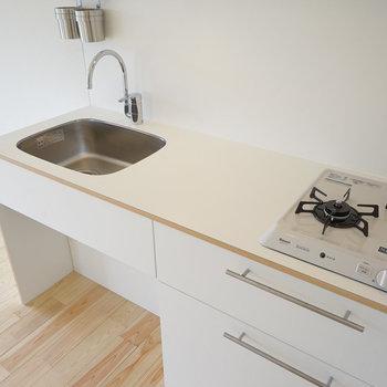 キッチンも新しくゆったりサイズに