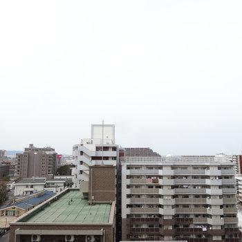 10階からの眺めは、やっぱり景色が違います。