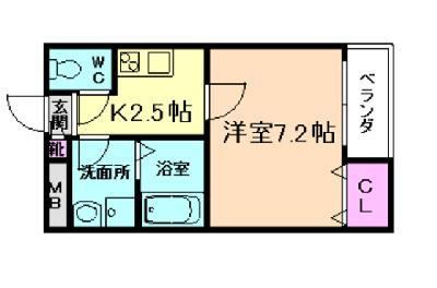 Star plaza 中桜塚 の間取り