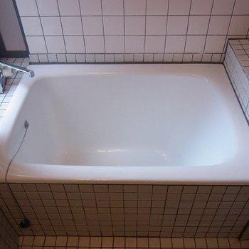 お風呂は狭め。※写真は別部屋