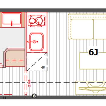 広さのある独立洗面台が嬉しいお部屋、B❜タイプ