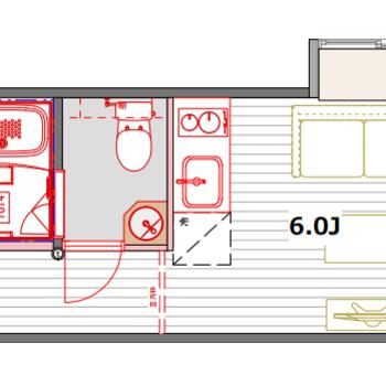 402号室Iタイプは1部屋限定の間取りです