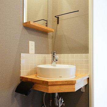 可愛らしい洗面台に※写真は402号室