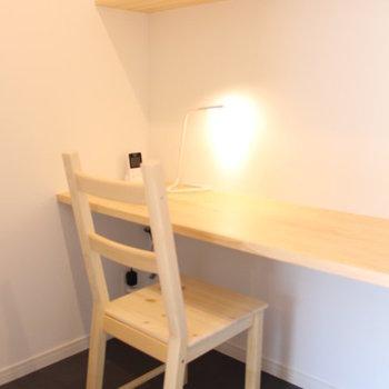 今回のお部屋の目玉は書斎スペース、こんな隠れ家で、時が経つのを忘れそう