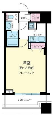 コンシェリア西新宿TOWER'S WEST の間取り