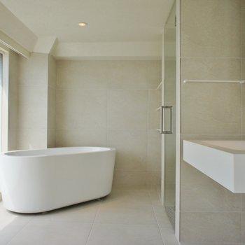 お風呂の部屋。