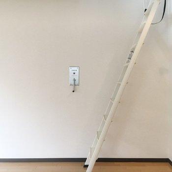 この階段を上っていくと…ロフトに!