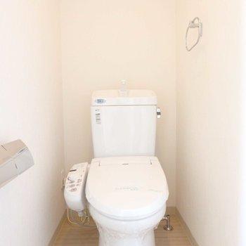 トイレにはなんと手すり付き。