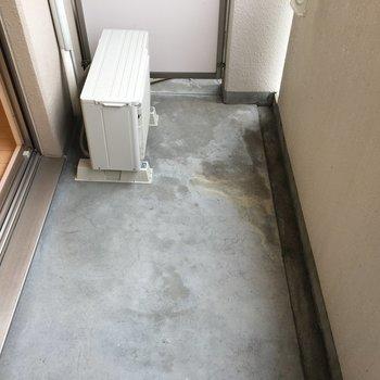 洗濯物を干す分には、問題ない広さでした(※写真は5階の同間取り別部屋のものです)