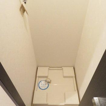 洗濯機は廊下の扉を開けると