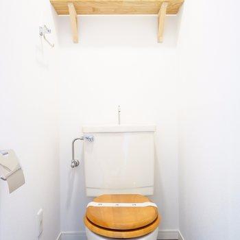 新品のトイレには木製便座を!※写真はイメージ