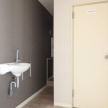 トイレの横に手洗い場??※写真は前回募集時のものです。