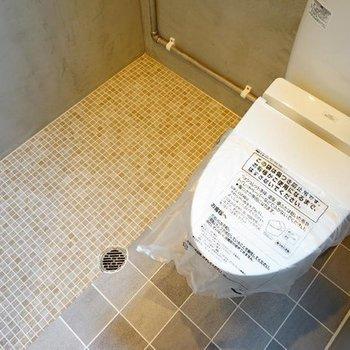 トイレはウォシュレットつき!※写真は7階の同間取り別部屋のものです。