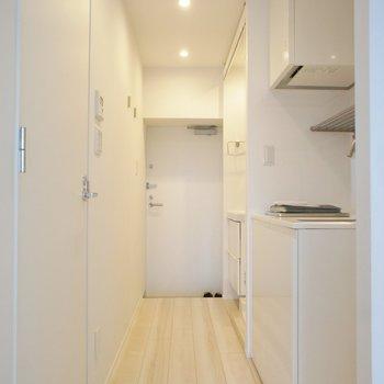 キッチンは廊下に