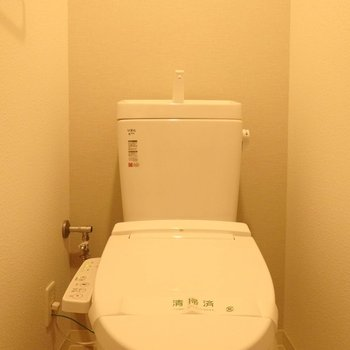 トイレはウォシュレット付きです。(※写真は14階の同間取り別部屋のものです)