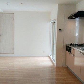 左手奥のドアは洗面スペースにつながります
