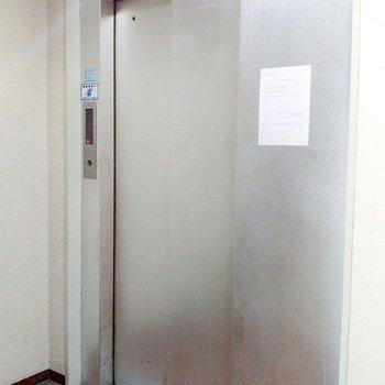 エレベータはTHEオフィスビルって感じ