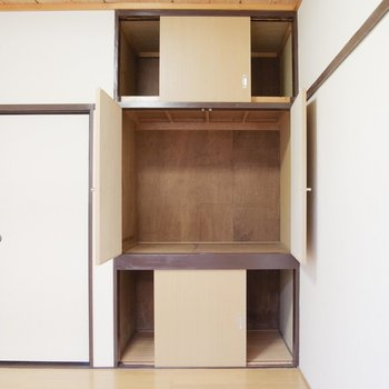 収納タップリ3段活用!※写真は1階の同間取り別部屋のものです