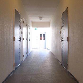 【共用部】シンプルな廊下。
