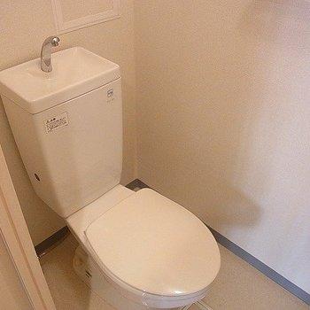トイレも清潔※写真は別部屋です